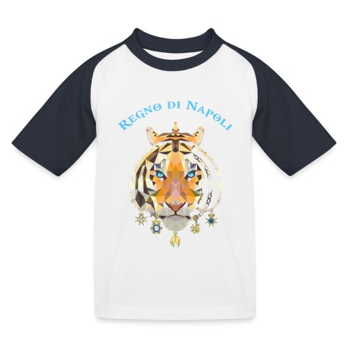 regno di napoli tigre - Maglietta da baseball per bambini