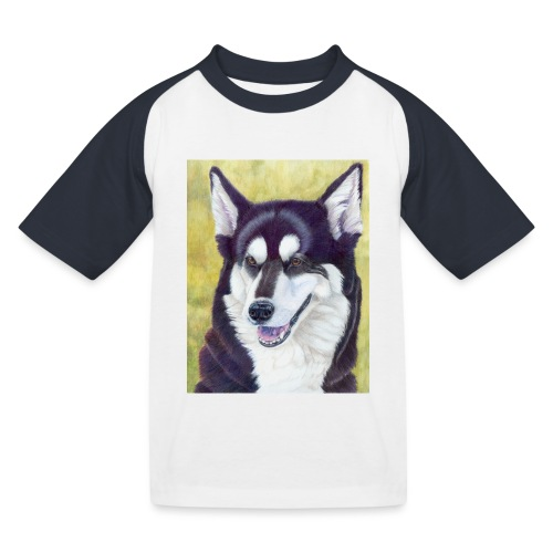 Siberian husky - Baseball T-shirt til børn