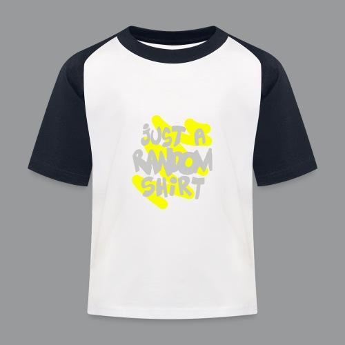 gewoon een willekeurig shirt - Kinderen baseball T-shirt