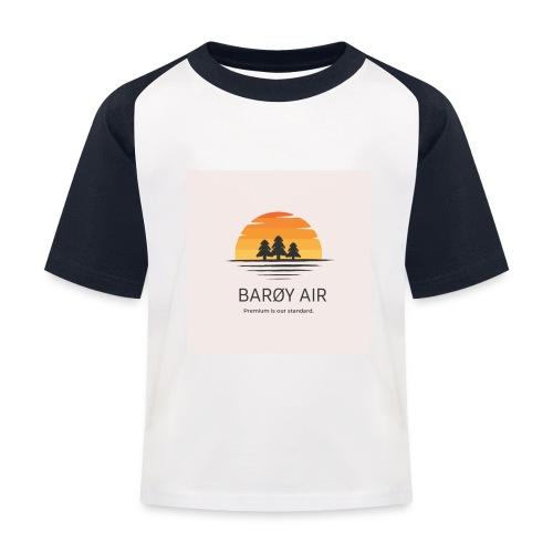 Roblox Airline Barøy Air - Kids' Baseball T-Shirt