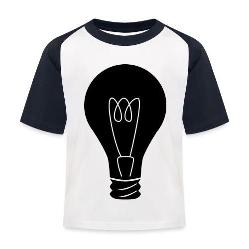 Glühbirne - Kinder Baseball T-Shirt