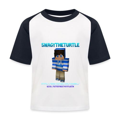 SwagyTheTurtle Combination png - Kids' Baseball T-Shirt