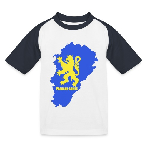 Carte Franche-Comté + lion - T-shirt baseball Enfant