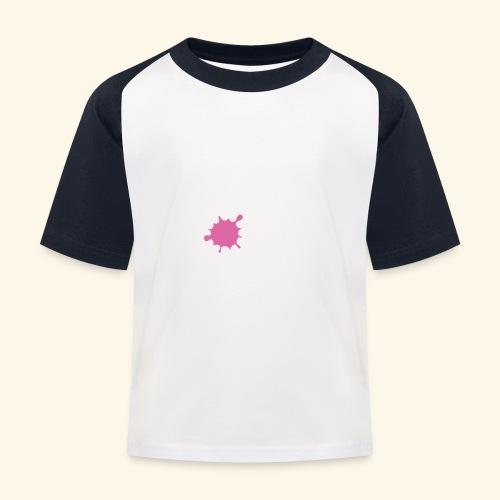 LOVE Cross white klecks pink 001 - Kinder Baseball T-Shirt