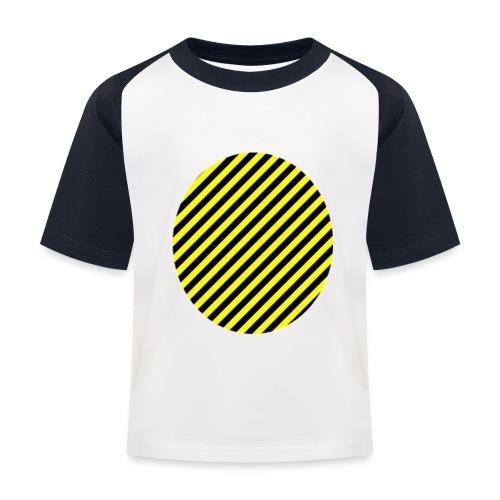 varninggulsvart - Baseboll-T-shirt barn