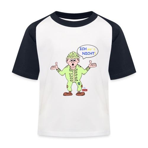 patame Zwuckel Ich wars nicht! Blau - Kinder Baseball T-Shirt