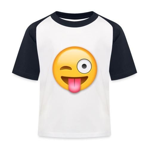 Winking Face - Kinder Baseball T-Shirt