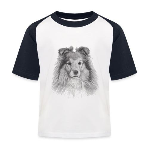 shetland sheepdog sheltie - Baseball T-shirt til børn