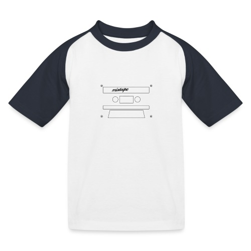 Playlists never like mixtape (dark background) - Kids' Baseball T-Shirt