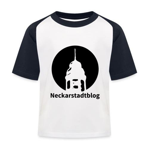 Logo mit Schriftzug invertiert - Kinder Baseball T-Shirt