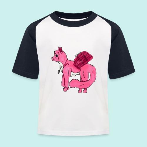 pink_cat_ei_taustaa - Lasten pesäpallo  -t-paita