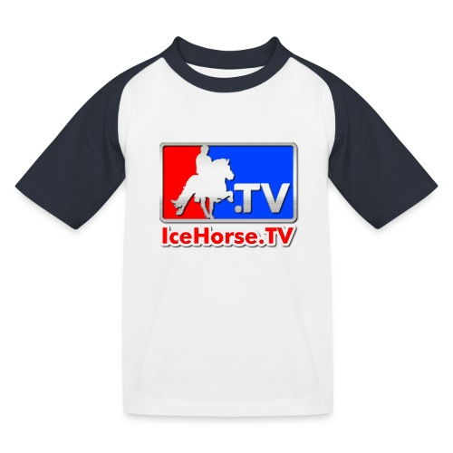 IceHorse logo - Kids' Baseball T-Shirt