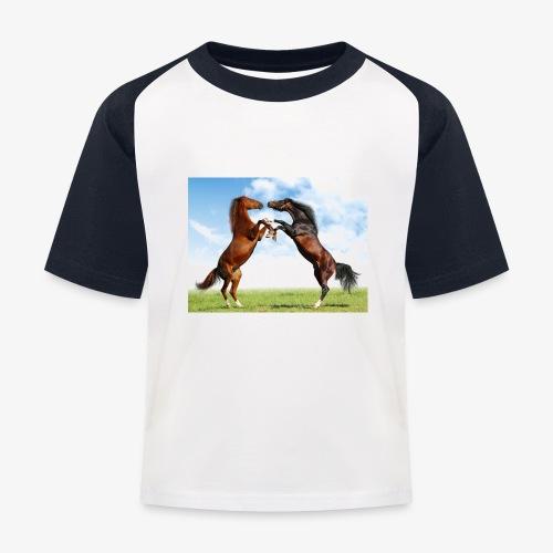 kaksi hevosta - Lasten pesäpallo  -t-paita