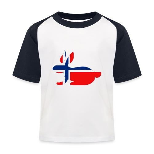 bunny logo - Kids' Baseball T-Shirt