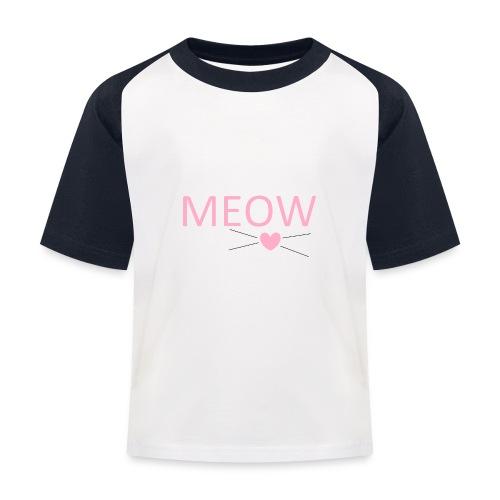 MEOW - Koszulka bejsbolowa dziecięca