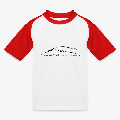 SUP logo musta - Lasten pesäpallo  -t-paita