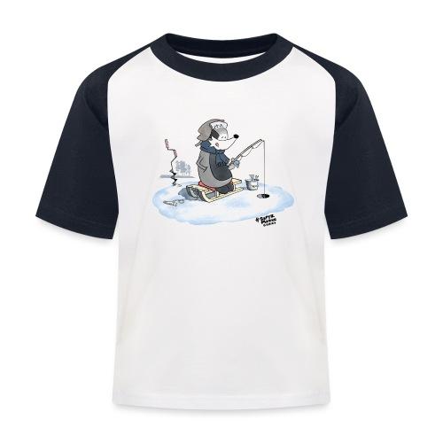 Ice Fishing Badger - Baseball-T-skjorte for barn
