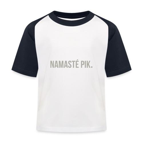 Namasté pik. - mannen - Kinderen baseball T-shirt