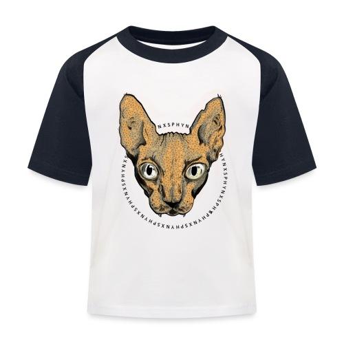 sphynx white bg - Baseboll-T-shirt barn