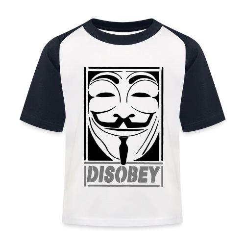 disobey - Baseball T-shirt til børn
