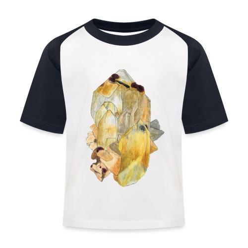 Bergkristall mit Granat - Kinder Baseball T-Shirt