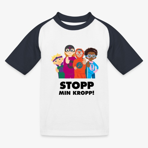 Stopp min kropp! - Baseboll-T-shirt barn