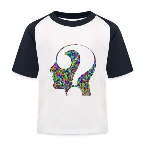 Fragender Kopf - Kinder Baseball T-Shirt