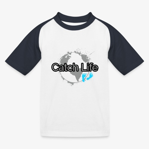 Catch Life Black - Kids' Baseball T-Shirt