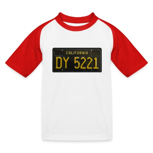 CALIFORNIA BLACK LICENCE PLATE - Kids' Baseball T-Shirt