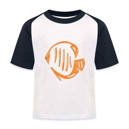 Aquarium Adventures Logo - Kids' Baseball T-Shirt