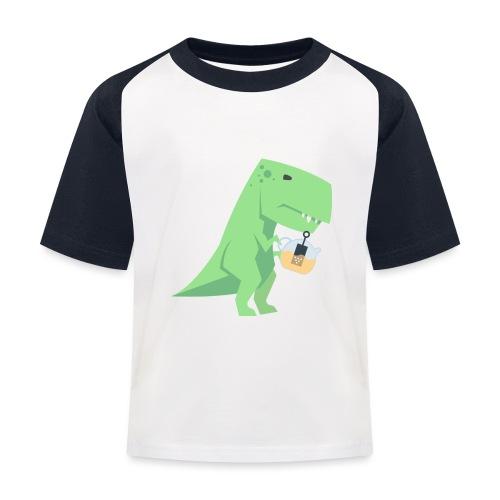 Tea-Saurus - Kinder Baseball T-Shirt