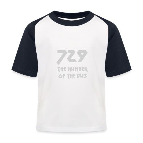 729 grande grigio - Maglietta da baseball per bambini
