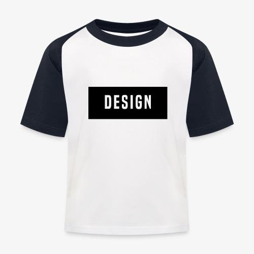 design logo - Kinderen baseball T-shirt