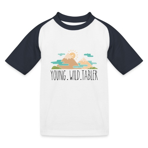 young.wild.tabler - Kinder Baseball T-Shirt