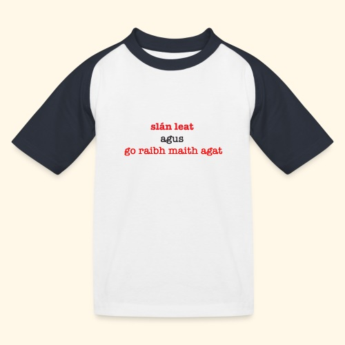 Good bye and thank you - Kids' Baseball T-Shirt