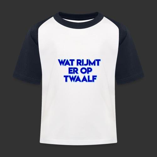 wat rijmt er op twaalf - Kinderen baseball T-shirt