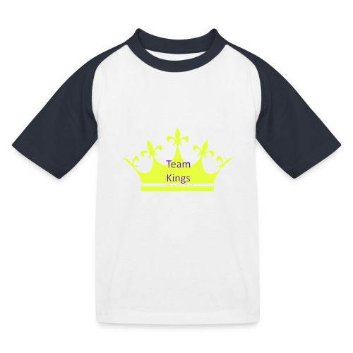 Team King Crown - Kids' Baseball T-Shirt