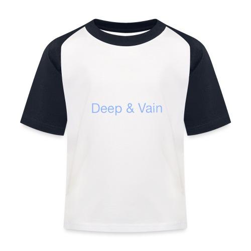Deep&Vain Text Logo - Kinderen baseball T-shirt
