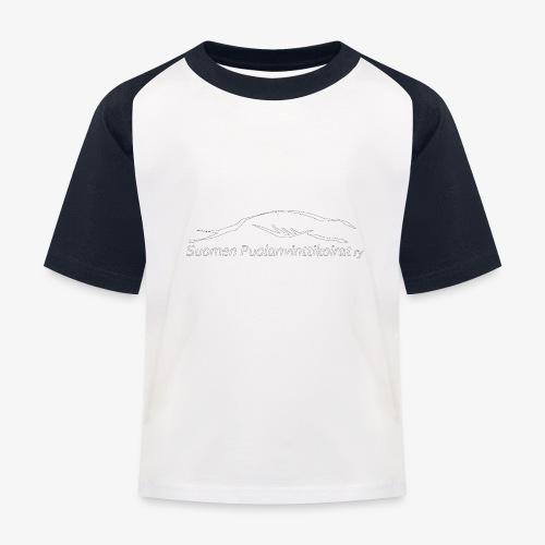 SUP logo valkea - Lasten pesäpallo  -t-paita