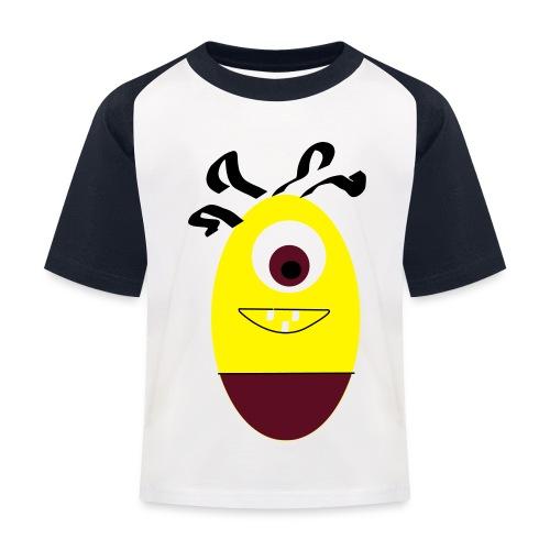 Gult æg - Baseball T-shirt til børn