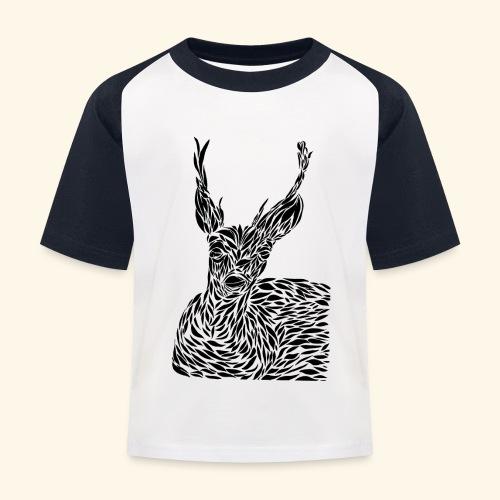 deer black and white - Lasten pesäpallo  -t-paita