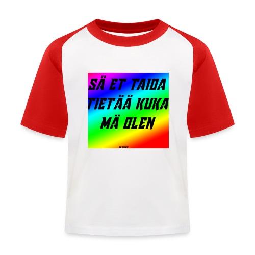kuka olen - Lasten pesäpallo  -t-paita