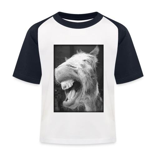 lachender Esel - Kinder Baseball T-Shirt