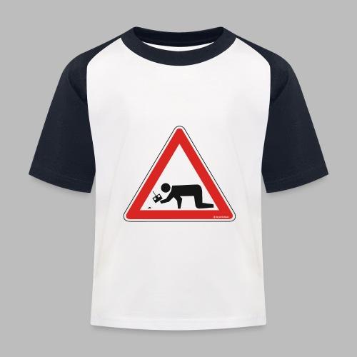 Warnschild Mikromodellbauer Next Generation - Kinder Baseball T-Shirt
