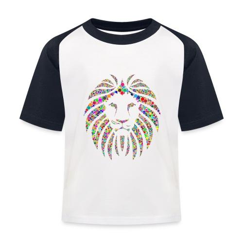 Ausdruck des Löwen - Kinder Baseball T-Shirt
