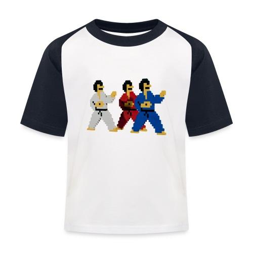 8 bit trip ninjas 1 - Kids' Baseball T-Shirt