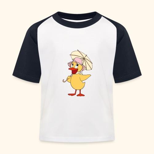 Schnatterinchen mit Schirm - Kinder Baseball T-Shirt