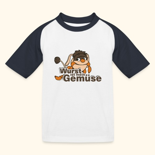 Moppi Wurst ist mein Gemüse - Kinder Baseball T-Shirt