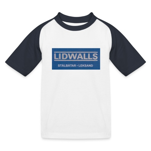 Lidwalls Stålbåtar - Baseboll-T-shirt barn