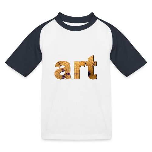 art - T-shirt baseball Enfant